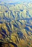 Vista aérea de montanhas e do deserto sul ásperos de Irã Imagem de Stock Royalty Free