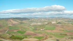Vista aérea de montes sicilianos filme