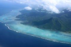 Vista aérea de Moorea fotografía de archivo libre de regalías