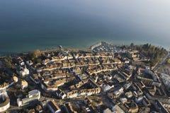 Vista aérea de Morges, Switzerland imagem de stock