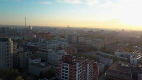 Vista aérea de Moscou no nascer do sol, Rússia vídeos de arquivo