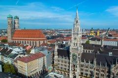 Vista aérea de Munchen Imágenes de archivo libres de regalías