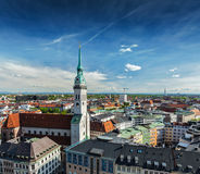 Vista aérea de Munich fotografia de stock