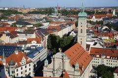 Vista aérea de Munich Fotografía de archivo libre de regalías