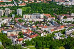 Vista aérea de Munich, Alemanha Foto de Stock