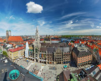 Vista aérea de Munich, Alemania Foto de archivo libre de regalías