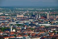 Vista aérea de Munich Munich, Baviera, Alemania imágenes de archivo libres de regalías