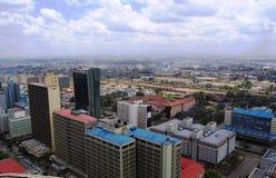 Vista aérea de Nairobi Kenia Imágenes de archivo libres de regalías
