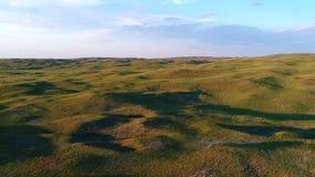 Vista aérea de Nebraska Sandhills video estoque