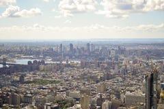 Vista aérea de New York City Foto de archivo libre de regalías