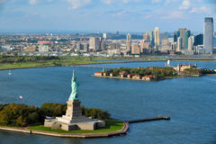 Vista aérea de New York City Fotos de archivo