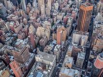 Vista aérea de New York City del Empire State Building imagen de archivo