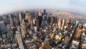 Vista aérea de New York City, dirección del este del norte Fotografía de archivo libre de regalías
