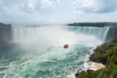 Vista aérea de Niagara Falls em ferradura vista do penhasco foto de stock