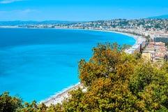 Vista aérea de Niza, Francia Foto de archivo libre de regalías