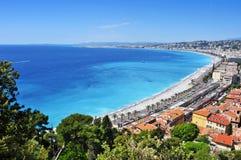 Vista aérea de Niza, Francia Fotografía de archivo