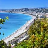 Vista aérea de Niza, Francia Imagen de archivo