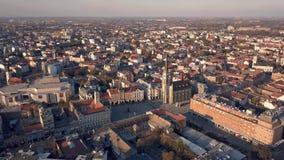 Vista aérea de Novi Sad filme