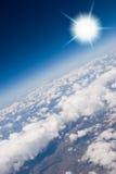 Vista aérea de nubes Fotografía de archivo
