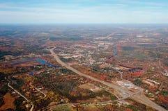 Vista aérea de Nueva Escocia Fotos de archivo libres de regalías