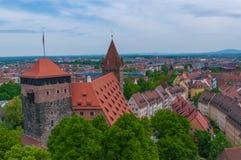 Vista aérea de Nuremberg Imagen de archivo libre de regalías
