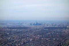 Vista aérea de NY Fotos de archivo libres de regalías