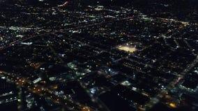 Vista aérea de Oakland, Califórnia na noite filme