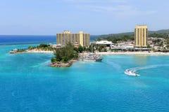 Vista aérea de Ocho Rios Jamaica Imagens de Stock Royalty Free