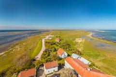 Vista aérea de Oland sul na Suécia Imagens de Stock Royalty Free