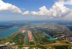Vista aérea de Ontario meridional Imágenes de archivo libres de regalías