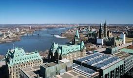 Vista aérea de Ottawa imagen de archivo libre de regalías