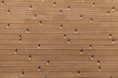 Vista aérea de pacotes do campo e de feno da colheita Fotos de Stock Royalty Free
