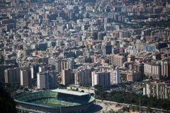 Vista aérea de Palermo, Italia con vistas al estadio Foto de archivo