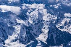 Vista aérea de Paquistán Paquistán Karakoram imágenes de archivo libres de regalías