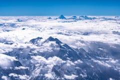 Vista aérea de Paquistão Paquistão Karakoram fotos de stock royalty free