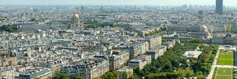 Vista aérea de París de la torre Eiffel Fotos de archivo