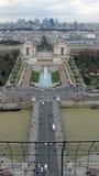 Vista aérea de París de la torre Eiffel Imagen de archivo libre de regalías