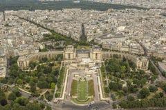 Vista aérea de París de la torre Eiffel Imagenes de archivo