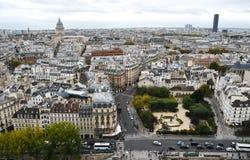 Vista aérea de París, Francia foto de archivo