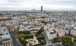 Vista aérea de París, Francia fotografía de archivo