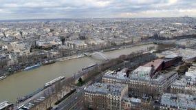 Vista aérea de París, Francia Imagen de archivo libre de regalías