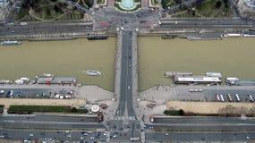 Vista aérea de París, Francia Fotos de archivo