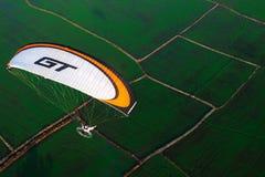 Vista aérea de Paramotor fotos de stock royalty free