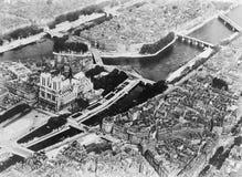 Vista aérea de Paris França (todas as pessoas descritas não são umas vivas mais longo e nenhuma propriedade existe Garantias do f Fotos de Stock