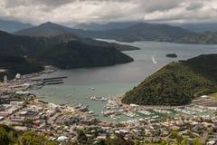 Vista aérea de Picton Imagen de archivo libre de regalías