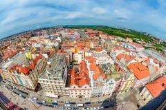 Vista aérea de Pilsen Bohemia, República Checa Fotos de archivo