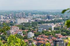 Vista aérea de Plovdiv, Bulgária Fotografia de Stock Royalty Free