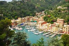 Vista aérea de Portofino fotografia de stock royalty free