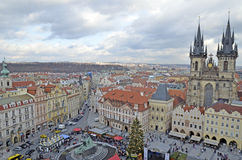 Vista aérea de Praga Fotografía de archivo