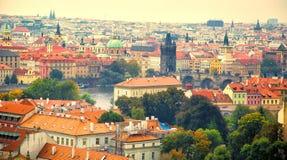 Vista aérea de Praga Imagem de Stock Royalty Free
